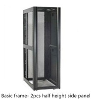 "19"" 600, 750 and 800mm Wide Server Rack with Basic Frame - 2 pcs Half Height Side Panel"