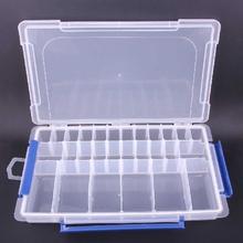 Fashion 28 Girds Plastic Box Transparent Empty Beads Adjustable Box Storage Container Rectangle hot sale plastic box(China (Mainland))