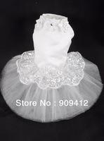 Luxury Dog Wedding Dress Pet Spring And Summer Dress XS/S/M/L Free Shipping White