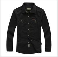 Spring 2014 Hot Sale Men's shirts tops men casual shirt Cotton Turndown collar 3colors men's clothing plus size free shipping