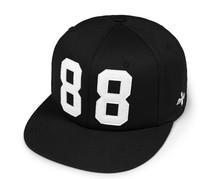 Free Shipping 2014 Spring Summer Fashion Embroidery Letter 88 Baseball Hats Men Black Snapback Caps Cheap Sports Hat Hip Hop Cap