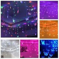 Multi-color LED STRING Strip Festival Holiday CHRISTMAS WEDDING Decoration LIGHTS Butterfly 3.5m 100 SMD 110V/220V EU/US/UK/AU