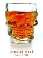 Free Shipping 1 set  Creative Doomed Crystal Skull Head Shot Glass mug Vodka Whiskey Wine  Cup
