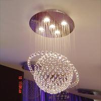 Factory wholesale Crystal lamp bedroom lamp restaurant lamp lamps lighting modern globe pendant light d9011