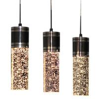 Factory wholesale Crystal lamp restaurant lamp bubble 3 lamps lighting ceiling light rectangle d9088