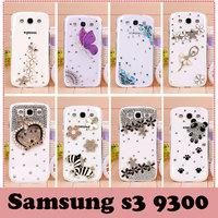 Luxury rhinestone crystal case for samsung galaxy s3 S III SIII i9300 mobile phone Hard Back Cover Skin case