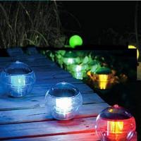 Newest Solar Float Light Garden Pond Lamp Floating Lights Solar Lake Floating Light 7 Color Light 1pcs Free Shipping