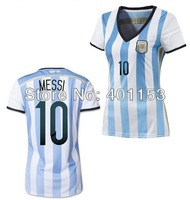 MESSI #10 argentina 2014 world cup soccer football jersey for lady , women shirt