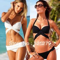 summer 2014 new style Free Shipping Beauty Women Top Strapless Bikini set Sexy Swimsuit Top and Bottoms Swimwear
