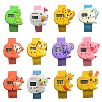 2014 new Arrival Children Jelly wristwatch child electronic watch children waterproof animal shape digital watches 9 kinds