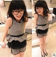 (5 pieces/lot)wholesale 2014 New Pleasant baby female child small set princess set a8115 1.06kg