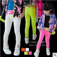 (5 pieces/lot)wholesale 2014 New baby ultra elastic color block letter pencil pants l812 0.6kg