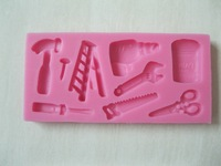 Shear , electric drill, hammer tools series shape fondant 3D molds, candle molds, sugar craft tools, chocolate moulds, bake ware