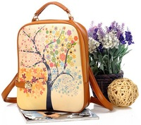Preppy style fresh female backpack small handbag messenger bag