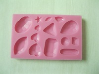 Free shipping five star and love shape Silicone 3D Mold Cookware Dining Bar Non-Stick Cake Decorating fondant soap mold
