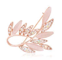 1 piece Free shipping Beautiful brooches for wedding opal rhinestone brooches for women BR014