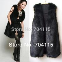 New Arrival Black  Mink Fur Vest