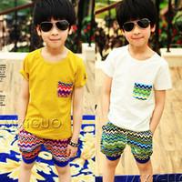 3 5 6 - - - - 7 8 summer clothing male short-sleeve child set 2014 child boy