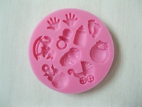 Cute Baby care series shape silicone mold soap, fondant candle molds, sugar craft tools, chocolate moulds, cake molds