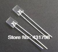 Free shipping 2 * 5 * 7 square white hair blue LED light-emitting diode emitting tube 100pcs
