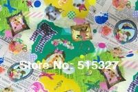 50cm*110cm Japanese Patchwork Fabric Quilt fabric Tilda Cloth Cotton Fabric Animal Collage    Green