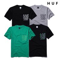 Spring and summer pocket print pullover 100% T-shirt man short-sleeve cotton t-shirt shirt short tee