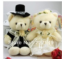 Lovers wedding teddy bear plush dolls wedding dolls creative wedding present large pair
