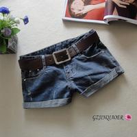 Hot sale 2014 fashion hole shorts lady denim shorts women shorts Wholesale casual Jeans shorts S/M/L/XL +Free Shipping