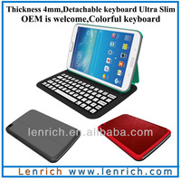 "LBK540 5mm Super slim  Detachable bluetooth keyboard case for Galaxy Tab3 8"" T310  thickness only 5mm"