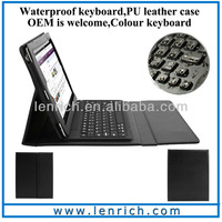 LBK107 DHL Free shipping Hot Selling Wireless Bluetooth Keyboard for iPad 2 3 4 Stand Leather Case Cover with Bluetooth Keyboard