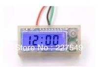 Motor car LCD digital watch with blue backlight automotive electronic clock backlit waterproof