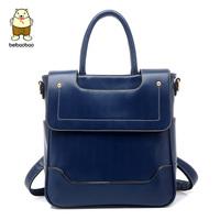 2014 women's multifunctional handbag backpack preppy style the trend of fashion school bag