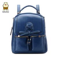 2014 PU spring double-shoulder women's handbag backpack female preppy style school bag
