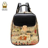 2014 female backpack vintage backpack preppy style fashion student school bag
