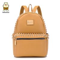 Vintage rivet backpack school bag lovers casual women's handbag bag fashion bag x