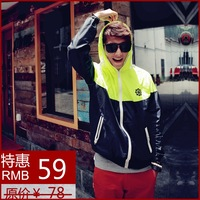 Light waterproof outdoor fast drying men's clothing thin sun protection clothing male loose jacket outerwear
