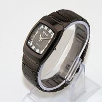 Free Shipping New 2014 Fashion Casual Square Wristwatch Women Alloy Black Band Quartz Watch Gift Lady Big Women's Dress Watches