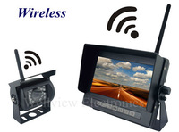 Wireless rear view camera system,7inch waterproof monitor system