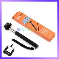 Portable Self-Timer Handheld Monopod Telescopic Extendible Selfprotrait Stand Holder for Camera & Phone