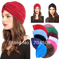 FD146 Unisex Indian Stretchable Turban Hat Headband Wrap Cap Headwrap Cloche