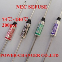 200PCS SF70-SF240E 73C 77C 94C 99C 113C 121C 133C 142 157C 172C 192C 216C 227C 240C Metal Temperature Sefuse Thermal Fuse