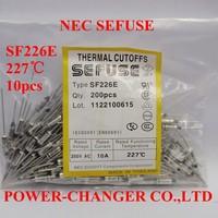 10PCS  SF226E 227C 227degree metal sefuse  thermal cutoffs Microtemp Thermal Fuse 10A250V Free Shipping