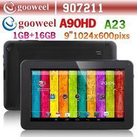 Gooweel A90HD A23 Dual core 1.5GHz tablet 9inch HD Screen 1024x600pixs 1GB RAM 16GB ROM Android 4.2 WIFI Dual Camera Bluetooth