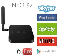 NEO X7 minix Rockchip RK3188 Quad Core Android 4.2.2 1.6GHz Mini TV BOX 2GB/16GB bluetooth WIFI RJ45 + ruissian \ English rii i8