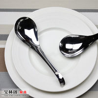 Stainless steel tableware spoon thickening big tom shell spoon belt conjecturing spoon rice spoon cutlery