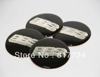 4x 65mm BBS Wheel Center hub Cap Stickers Silver Black Resin finished Fits BBS Wheels