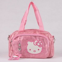 KT7914 Canvas Hello Kitty  School Bag Kids Cartoon School Messenger Bag Animal Bags Gift For Girls
