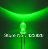 LED F5 green light straw green light-emitting diodes 5 mm round head lamp is 26mm long feet high brightness