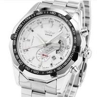 Genuine Swiss Winner  watches men's watches Fashion stainless steel watch waterproof Business wristwatch