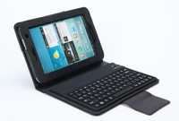 Bluetooth keyboard case For Samsung Galaxy Tab P6200(3100) Lichee Pattern PU leather Protect case for SAMSUNG